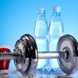 Weight loss, fitnes, dumbbell — Stock Photo