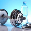 Foto Stock: Weight loss, fitnes, dumbbell