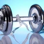 Body building, Fitness background — Stock Photo