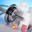 Body building, supplements — Stock Photo