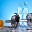 Body building, Fitness, dumbell  — Stock Photo #7409229