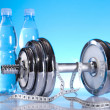 Dumbell, Fitness background — Stock Photo #7409285