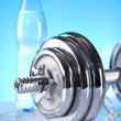 Dumbell, Fitness background — Stock Photo #7409300