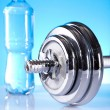 Dumbell, Fitness background — Stock Photo #7409337
