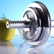 Fitness, dumbell  — Stock Photo