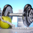 Fitness, dumbell - Foto de Stock  