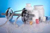 Musculación, suplementos — Foto de Stock