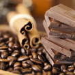 Stock Photo: Cinnamon and Chocolate