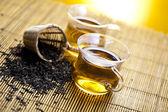 Coupe en verre de thé — Photo
