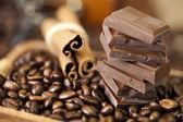 Cinnamon and Chocolate — Stock Photo