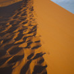 Sand Desert with Dunes in Marocco, merzouga — Stock Photo #7435871