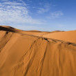 Desert landscape, merzouga, marocco - Stock Photo