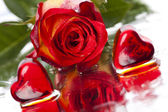 Rose en hart — Stockfoto