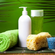 Stock Photo: Spand body care composition