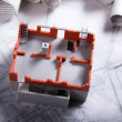 Architecture model and plans — Stock Photo #7759476