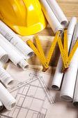 Construct Plans — Stock Photo
