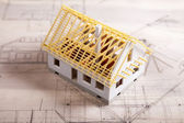 Architecture plan and home — Stock Photo