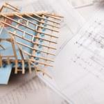 House on achitecture plan — Stock Photo #7760041