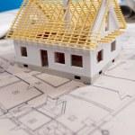 House on achitecture plan — Stock Photo #7760118