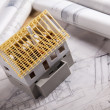 Architecture model and plans — Stock Photo #7763444