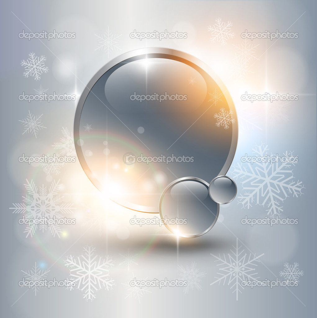 Abstract Christmas background with white snowflakes, vector. — Stock Vector #6846612