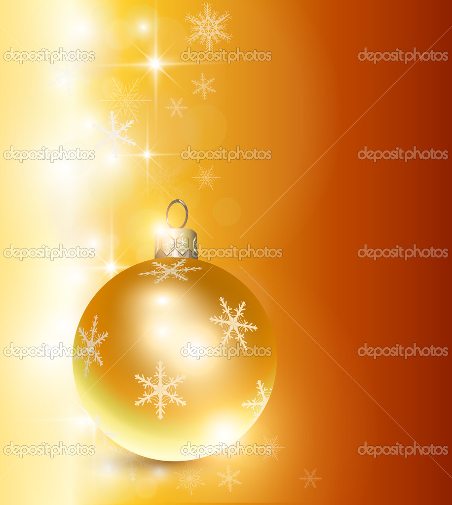 Elegant christmas background gold, vector. — Stock Vector #6847781