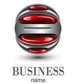 логотип красная сфера — Cтоковый вектор