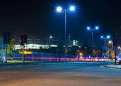Fast traffic at night — Stock Photo