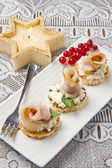 Swordfish canape — Stock Photo
