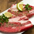 Meat, raw beef - Stock Photo