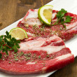 Meat, raw beef — Stock Photo