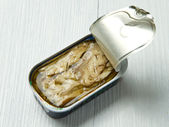 Tin of mackerel — Stock Photo