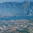 Lecco aereal view - Stock Photo