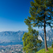 Lecco aereal view — Stock Photo