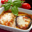 Eggplant parmesan — Stock Photo