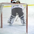 Ice hockey goalie — 图库照片