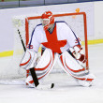 Ice hockey goalie — Stock Photo #7413420