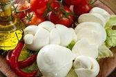 Italian mozzarella — Stock Photo