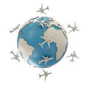 Jorden och flygplan — Stockfoto