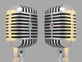 Two microphones — Stock Photo