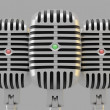 Group of microphones - Foto de Stock