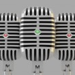 Group of microphones - Stockfoto