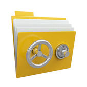 Folder with safe lock — Stok fotoğraf