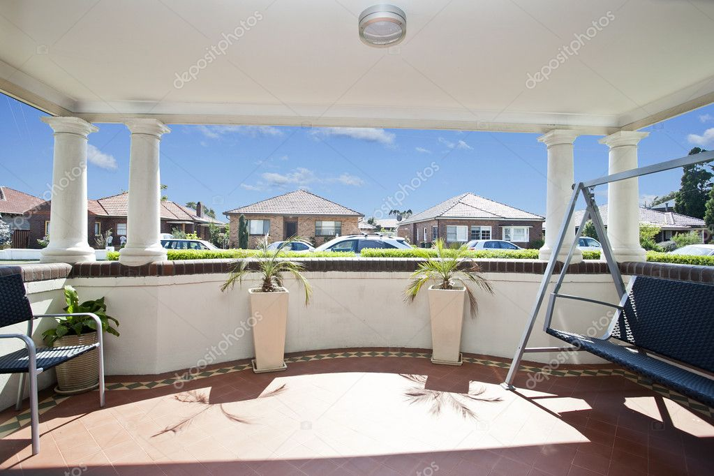 Balcony with a view against blue sky — Stock Photo #7195476