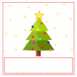 Postcard with christmas tree — Stock Photo