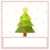 Postcard with christmas tree — Stock Photo