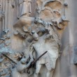 Foto Stock: Sculpture in exterior of cathedral