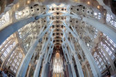 La Sagrada Familia - the impressive cathedral designed by Gaudi — Stock Photo