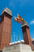 Venetian towers in Barcelona — Stock Photo