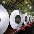 Packed rolls of steel sheet — Stock Photo #6857417